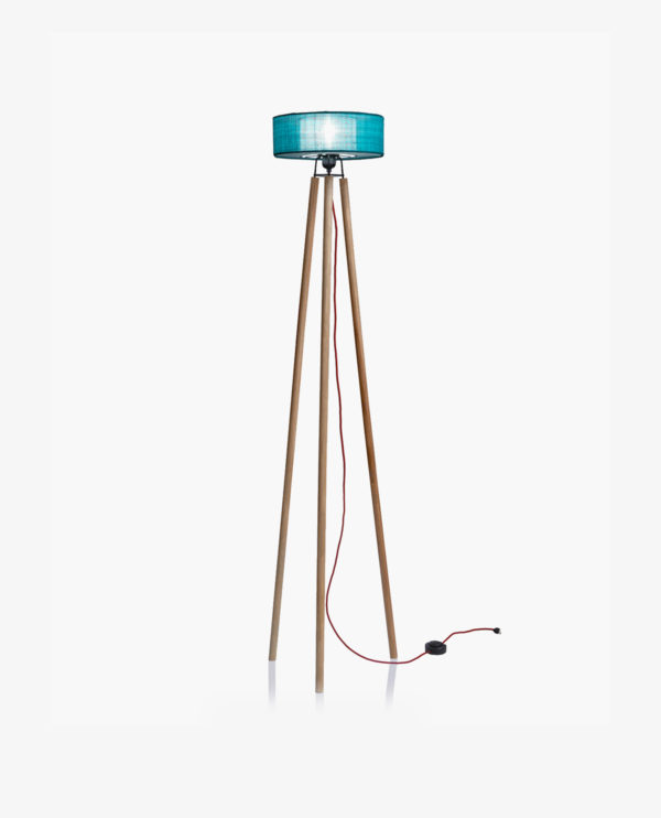 lampe d'ambiance turquoise